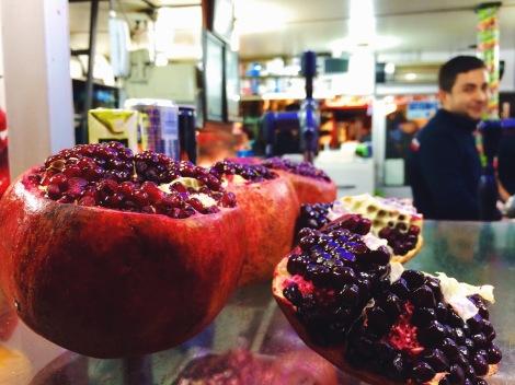 Pomegranate & Orange Juice Stand